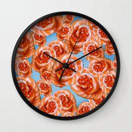 Salmon Rose Wall Clock