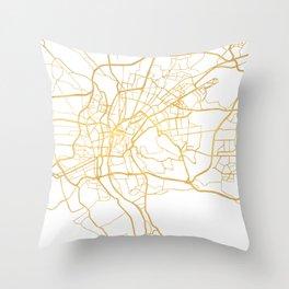 CAIRO EGYPT CITY STREET MAP ART Throw Pillow
