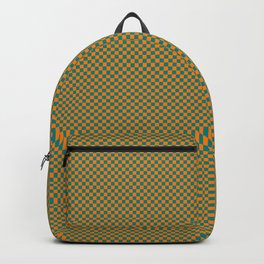 Orange and sea green squares Backpack