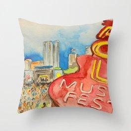 ACL Festival Throw Pillow