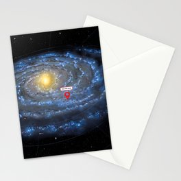 You are here: Milky Way map, Earth Stationery Cards