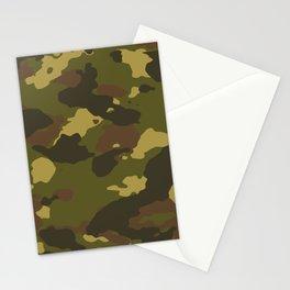 Dark Green Camo Stationery Cards