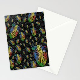 Mosaic of Bird V1 Stationery Cards