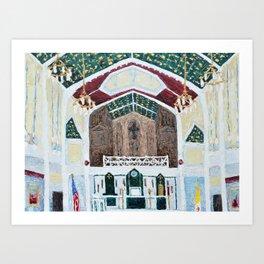 St. Thomas More Cathedral, Arlington, Virginia Art Print