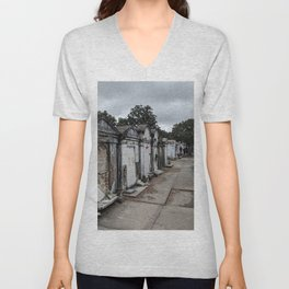 A Cemetery in New Orleans Unisex V-Neck