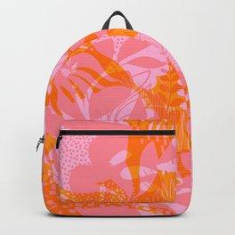 Tropical Jungle Pattern - Orange & pink Backpack