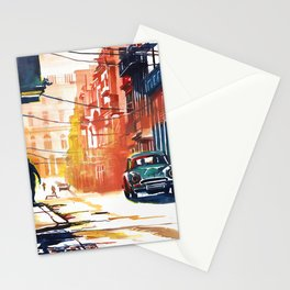 Havana  area of the old town Stationery Cards
