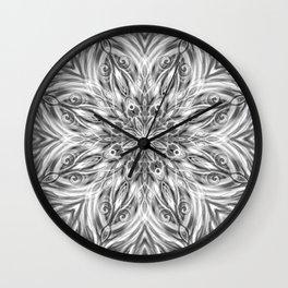 Gray Center Swirl Mandala Wall Clock
