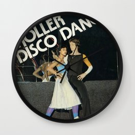 Roller Disco Dancing Wall Clock