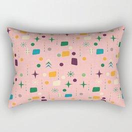 Atomic Pattern Pink Green  #midcenturymodern Rectangular Pillow