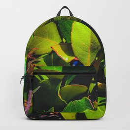 closeup green leaves garden texture background Backpack