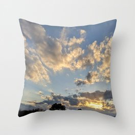 Shockwave of Clouds Throw Pillow