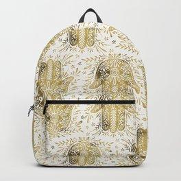 Hamsa Hand – Gold Palette Backpack