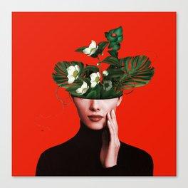 Lady Flowers Xl Canvas Print