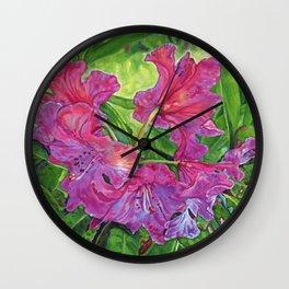 Pink Rhodo Wall Clock