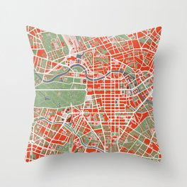Berlin city map classic Throw Pillow