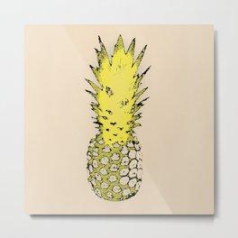 Pineapple N.3 Metal Print