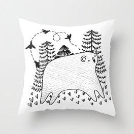 Fat Bear Throw Pillow