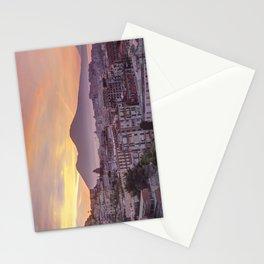 Napoli, landscape with volcano Vesuvio and sea Stationery Cards