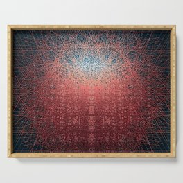 Sunrise in Shangri-La - Abstract Copper Metal Painting Serving Tray