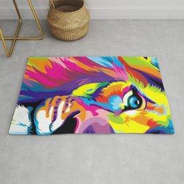 LION-FACE-ART Rug