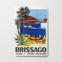 Brissago Ticino   Suisse Italienne Travel Poster - Poster Print, Sticker or Canvas Print   Gift Idea   Wall Decor Metal Print
