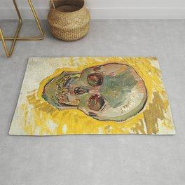 Vincent Van Gogh Skull Rug