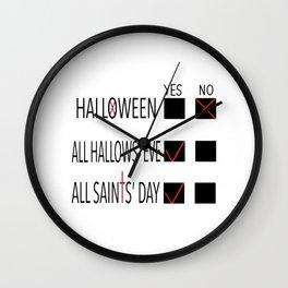 Anti-Halloween, All Hallows' Eve, All Saints' Day Christian Design Wall Clock