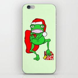 Frog Santa iPhone Skin
