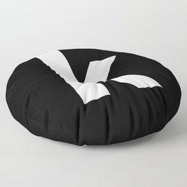 letter K (White & Black) Floor Pillow