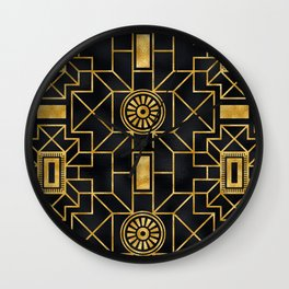 Art Deco Romance: Greeting the Dawn With French Cognac Wall Clock