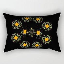 Orange and Green Spaces 120 Rectangular Pillow