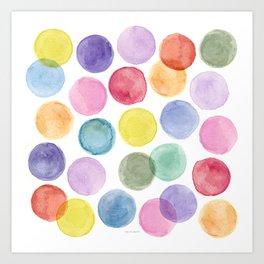 impulsive dots Art Print