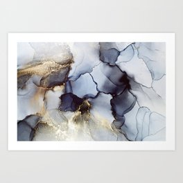 Abstract hand painted alcohol ink texture Art Print