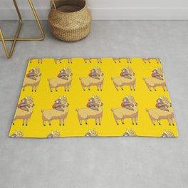Llama Print Lazy Sloth Cute Alpaca Rug