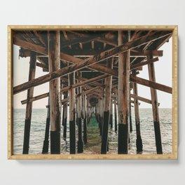 Balboa Pier Print {1 of 3} | Newport Beach Ocean Photography Teal Summer Sun Wave Art Serving Tray