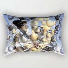 Salvador Dalí, Galatea of the Spheres 1952, Restored Artwork for Wall Art, Prints, Posters, Tshirts, Men, Women, Kids Rectangular Pillow