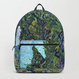 Vincent van Gogh - Cypresses - Digital Remastered Edition Backpack