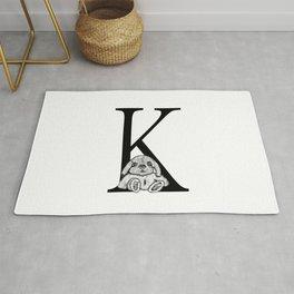 K letter Rug