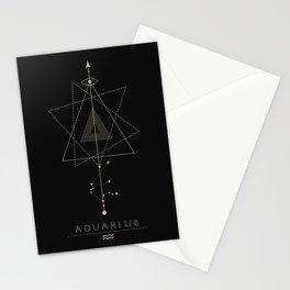 Aquarius Zodiac Constellation Stationery Cards