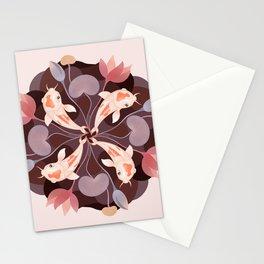 Koi kaleidoscope Stationery Cards