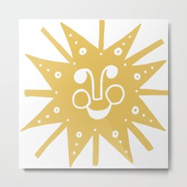 Cheerful Happy Sunshine Numero 5 Metal Print
