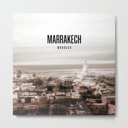 Marrakech Wallpaper Metal Print