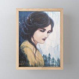 Temperance // Tarot Card Woman Portrait Painting Beauty Goddess Stars Nature Wild Forest Woods Framed Mini Art Print