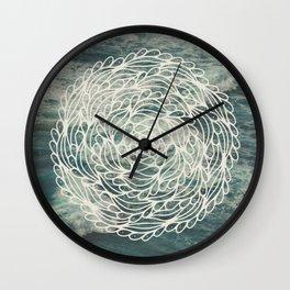 Mandala Ocean Waves Wall Clock