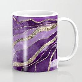 Purple Marble Agate Gold Glitter Glam #1 (Faux Glitter) #decor #art #society6 Coffee Mug