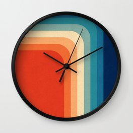 Retro 70s Color Palette III Wall Clock