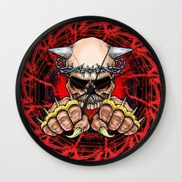Fist of Blood Wall Clock