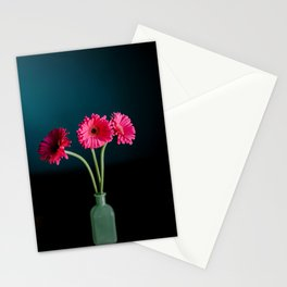 Hot Pink Gerbera Daisies in a jade vase Stationery Cards