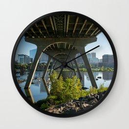 Summer Under The Manchester Bridge Wall Clock
